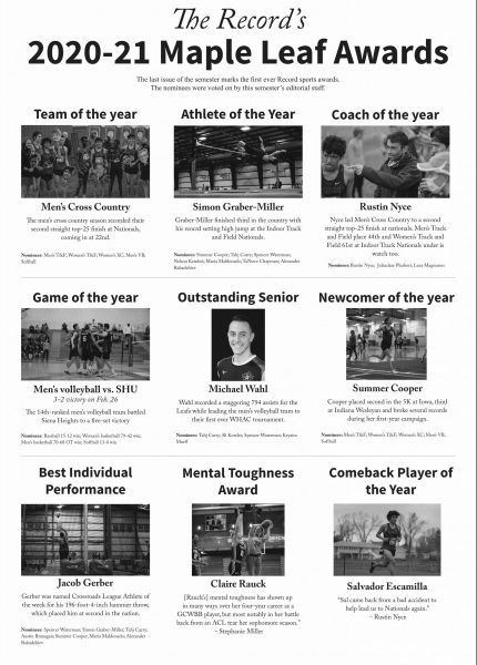 The Record's Maple Leaf Awards