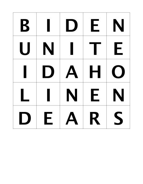 word puzzle solution