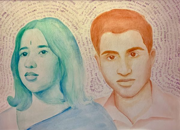 Painting of Meghna's grandparents